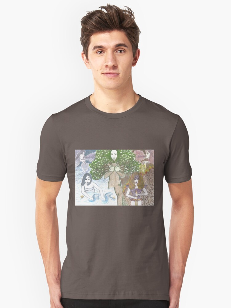 Mother Nature and her elements Unisex T-Shirt Front