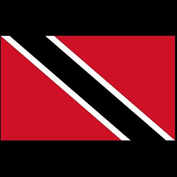 Trinidad and Tobago National Flag T-Shirt Stickers by deanworld