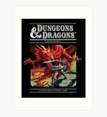 Lámina artística Calabozos y Dragones