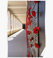 Wall Of Rememberance Poster