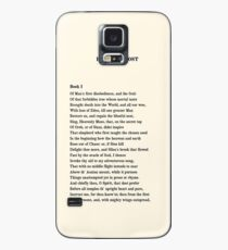 Paradise Lost John Milton First Page T-Shirt Case/Skin for Samsung Galaxy