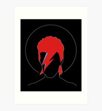 David Bowie Tribute Art Print