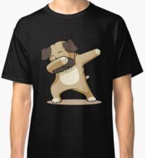 'Dab Dabbing Pug' Cute Dabbing Pug Dog Gift Classic T-Shirt