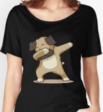 'Dab Dabbing Pug' Cute Dabbing Pug Dog Gift Women's Relaxed Fit T-Shirt