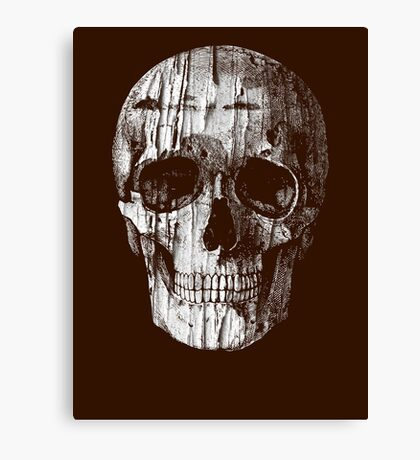 Ripped Up Skull Canvas Print