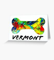 Vermont Dog Bone Greeting Card