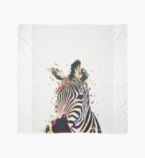 Zebra Watercolor Art Scarf