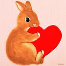 bunny kaut herz (2014) kaninchen / bunny art von IkuyoFujita