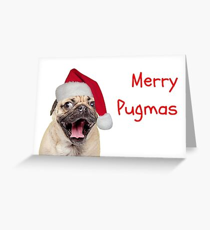 Merry Pugmas, Pug Christmas card, Dog Christmas card, meme tarjetas de felicitación Tarjeta de felicitación
