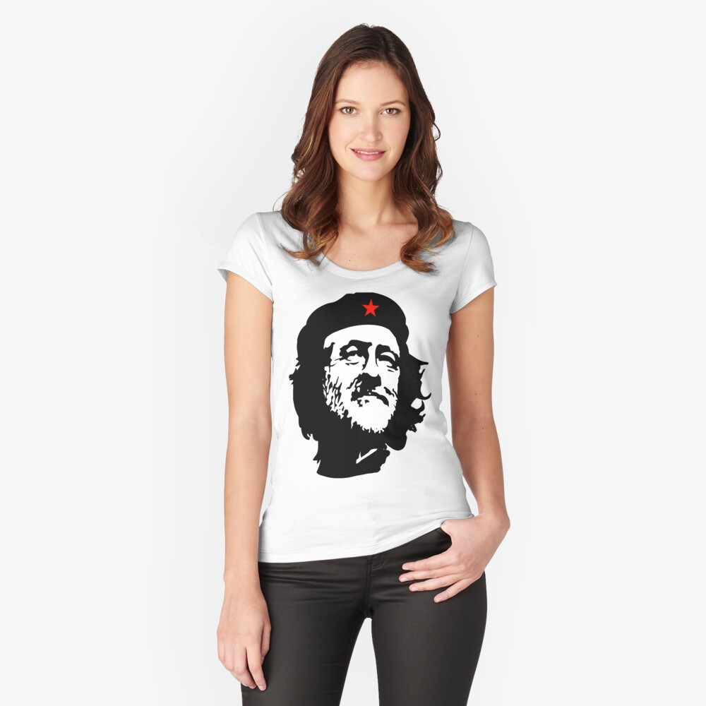 CORBYN, Comrade Corbyn, Election, Leader, Politics, Labour Party, Black on White Tailliertes Rundhals-Shirt