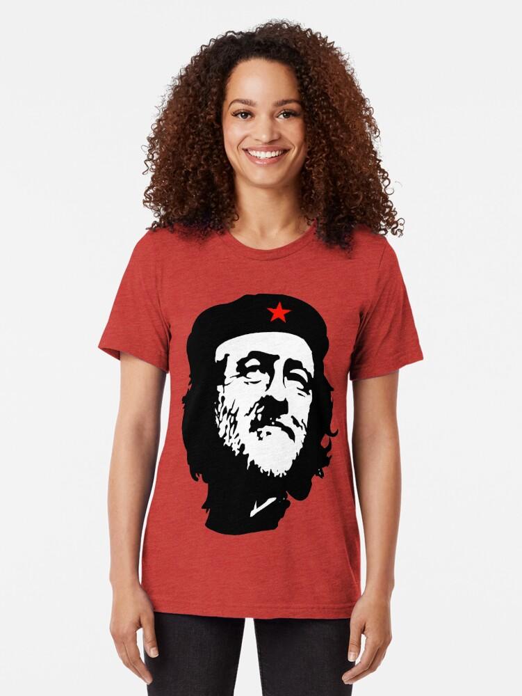 Alternative Ansicht von CORBYN, Comrade Corbyn, Election, Leader, Politics, Labour Party, Black on White Vintage T-Shirt