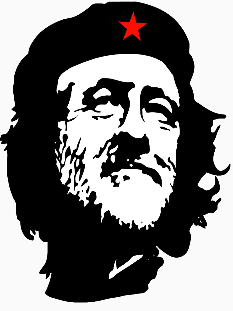 CORBYN, Comrade Corbyn, Election, Leader, Politics, Labour Party, Black on White von TOMSREDBUBBLE