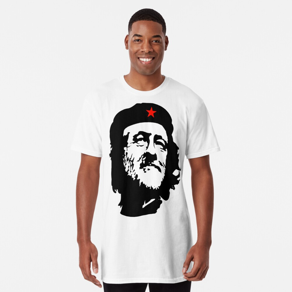 CORBYN, Comrade Corbyn, Election, Leader, Politics, Labour Party, Black on White Longshirt