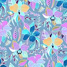 Pastel Tropical Floral  by TigaTiga
