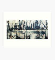 Urban Totems(Diptych) Art Print