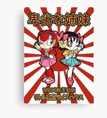 Pointless Sisters Japanese Text Canvas Print