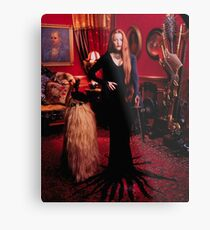 Gillian Anderson as Morticia Addams  Metal Print