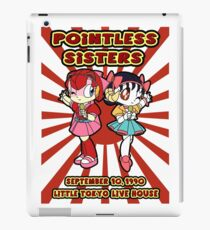 Pointless Sisters English Text iPad Case/Skin