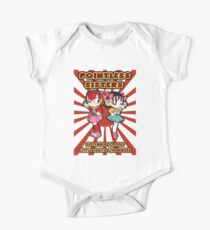 Pointless Sisters English Text One Piece - Short Sleeve