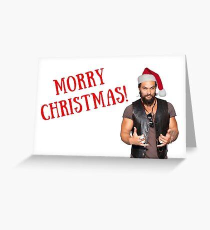 Navidad de Morry, tarjeta de Navidad de Jason Momoa, tarjetas de felicitación de meme Tarjeta de felicitación