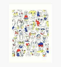 Primary People Art Print