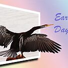 Earth Day - Darter, bird by Eve Parry