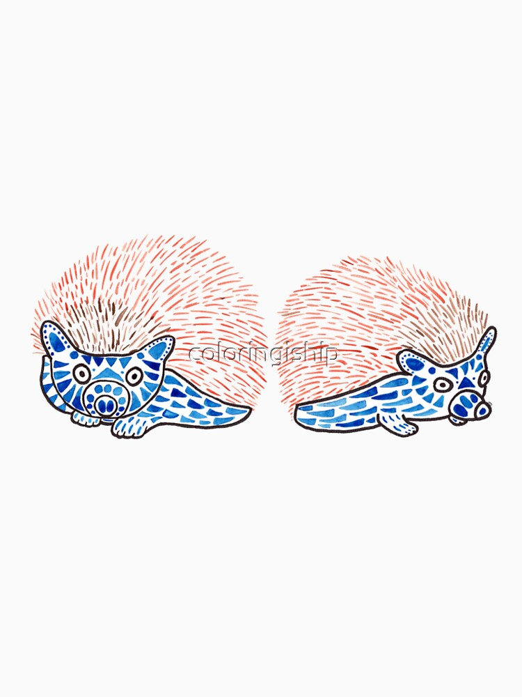 Watercolor Art | Hedgehogs! by coloringiship