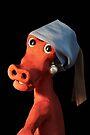 (Dinosaur) Girl with a Pearl Earring by Sara Sadler