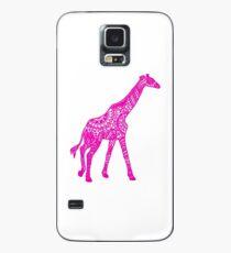 Bedruckte Giraffe - Pink Hülle & Klebefolie für Samsung Galaxy