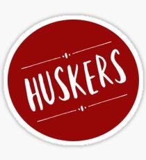Huskers Sticker