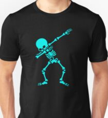 Dabbing Skeleton (Dab Blue) Slim Fit T-Shirt