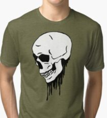 Bleeding skull Tri-blend T-Shirt