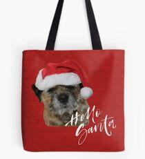 Border Terrier Cushion & Tote Bag - Hello Santa Tote Bag