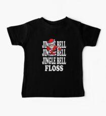 Jingle Bells Weihnachtsmann Floss Baby T-Shirt