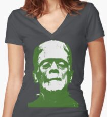 Frankenstein Women's Fitted V-Neck T-Shirt
