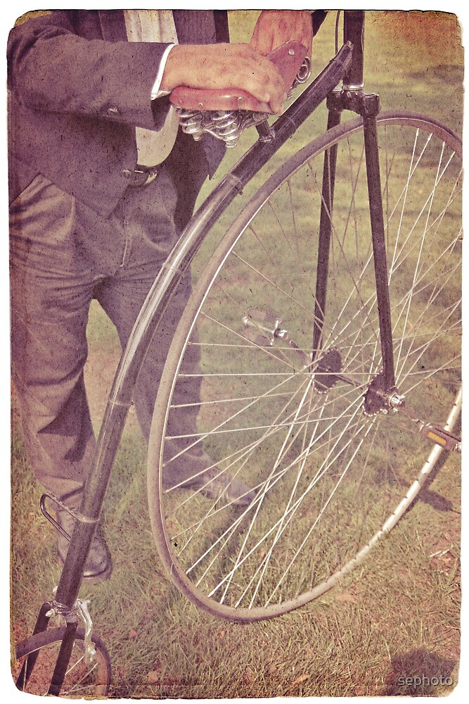 Penny-farthing in the park by sephoto
