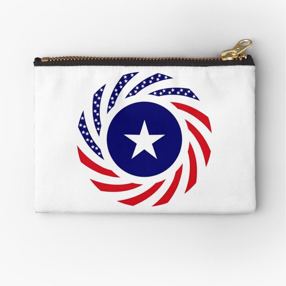 Liberian American Multinational Patriot Flag Series Zipper Pouch