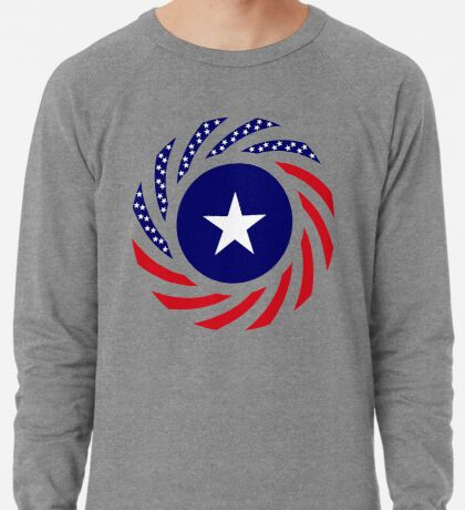 Liberian American Multinational Patriot Flag Series Lightweight Sweatshirt