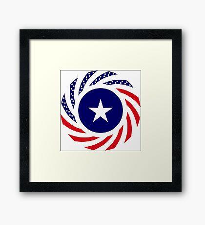 Liberian American Multinational Patriot Flag Series Framed Print