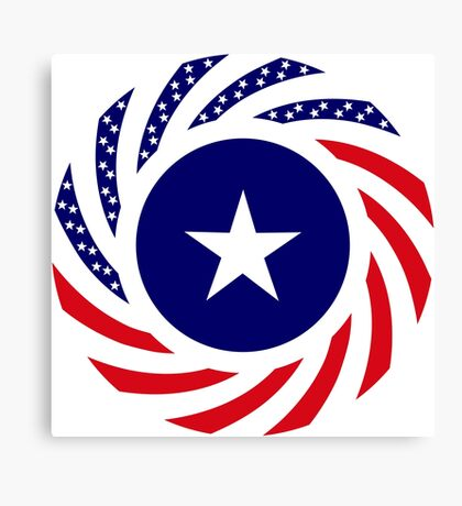 Liberian American Multinational Patriot Flag Series Canvas Print