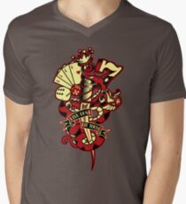 Live Fast Die Young Mens V-Neck T-Shirt