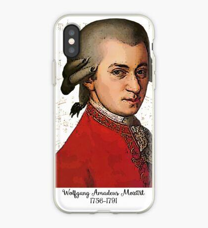 Wolfgang Amadeus Mozart Grunged iPhone Case