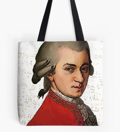 Wolfgang Amadeus Mozart Grunged Tote Bag