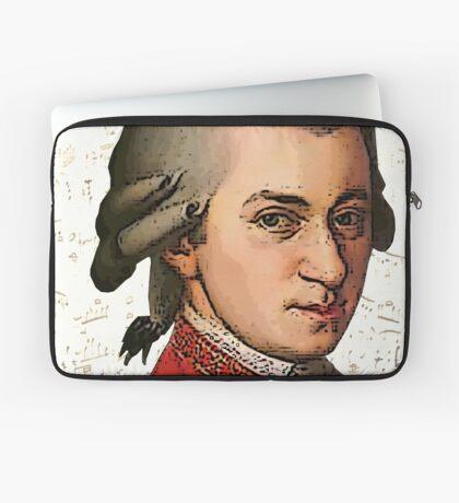 Wolfgang Amadeus Mozart Grunged Laptop Sleeve