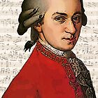 Wolfgang Amadeus Mozart Grunged by DesignsByDebQ
