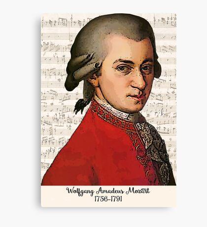 Wolfgang Amadeus Mozart Grunged Canvas Print