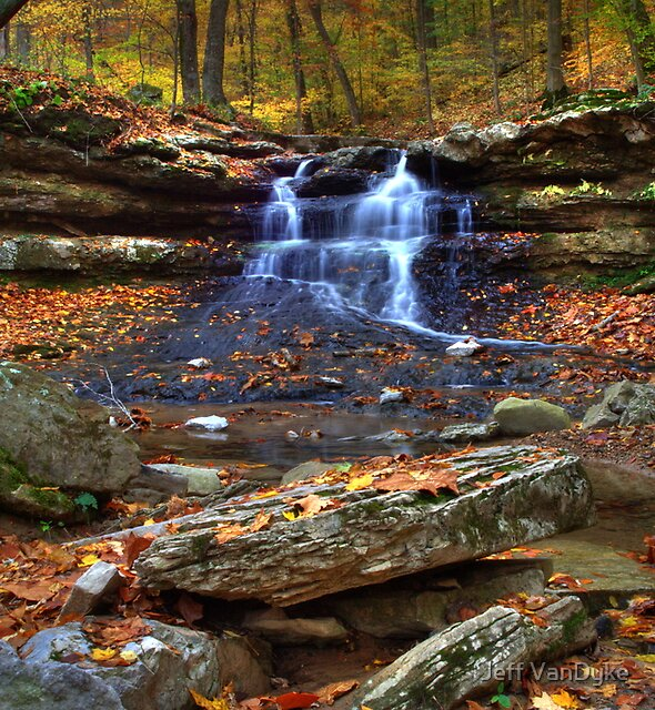 Cagles Mill Falls #4 by Jeff VanDyke