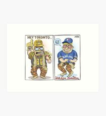 Hamilton Ticat fan of Toronto Blue Jays Art Print
