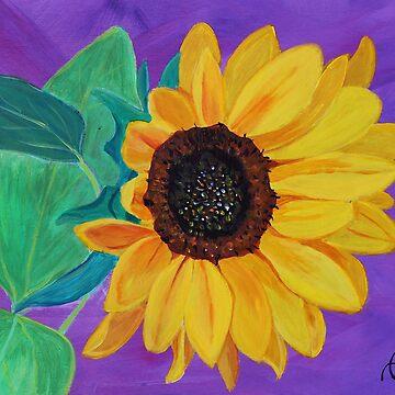 Lila Sonnenblume von IvysCraftShop