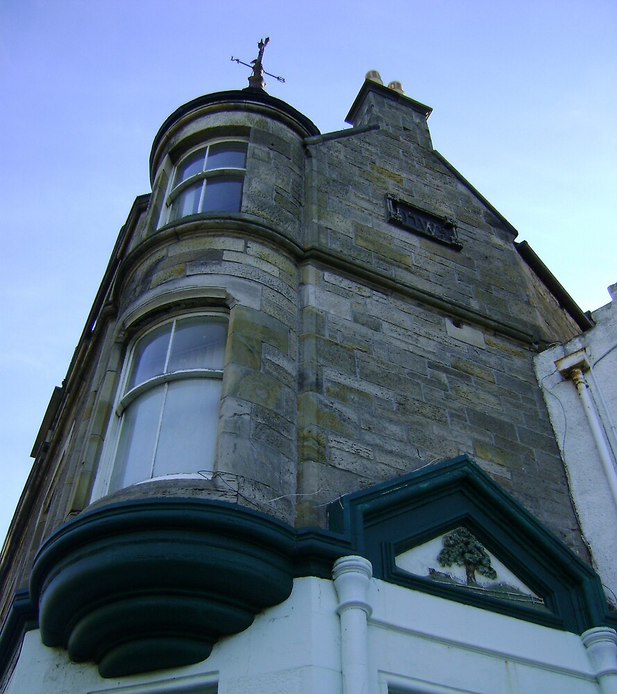 the waiting windows (glass and stone curved, turret, Burntisland) by armadillozenith
